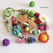 Слингобусы ручной работы. Ярмарка Мастеров - ручная работа Слингобусы и грызунок - комплект Мишка на лугу. Handmade.