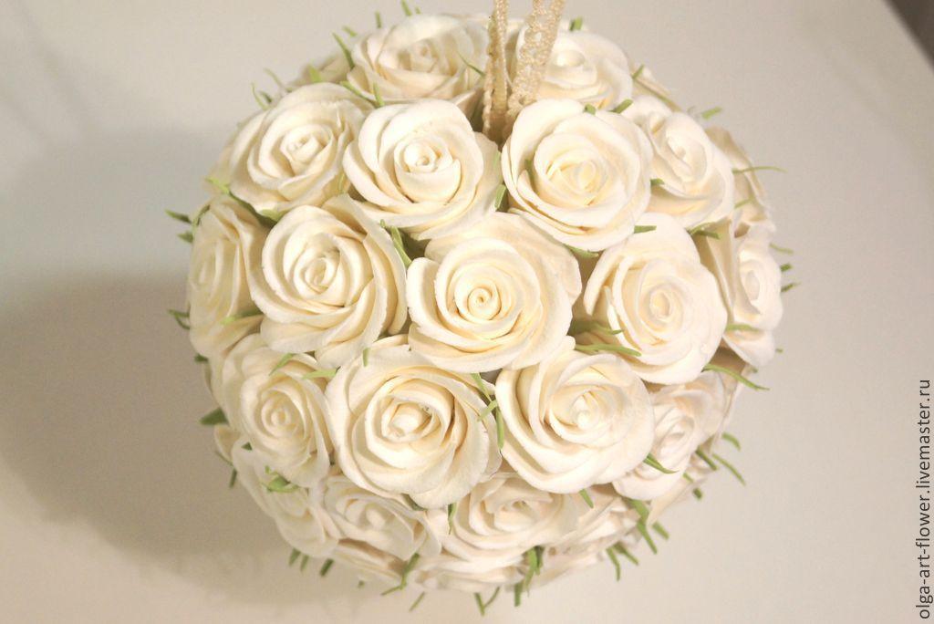 Заказать свадебный букет в виде шара купить книгу цветы из ткани надежда череда