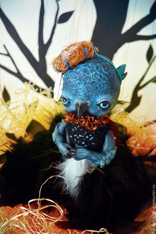 Куклы и игрушки ручной работы. Ярмарка Мастеров - ручная работа. Купить Пьюрр. Handmade. Подвижная игрушка, орел, черный, гранулят
