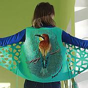 """Одежда handmade. Livemaster - original item Жилет валяный """"Золотистая щурка"""", войлок ручной работы. Handmade."""
