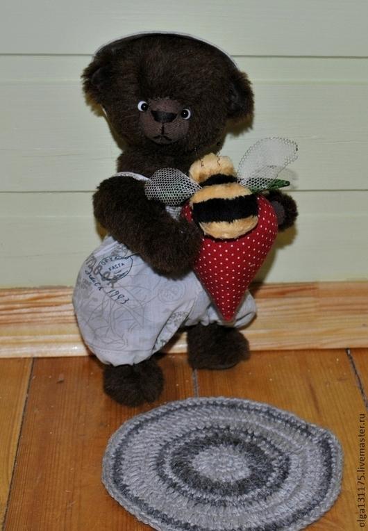 """Мишки Тедди ручной работы. Ярмарка Мастеров - ручная работа. Купить Мишка Тедди """"Клубничкин"""". Handmade. Мишка, тедди мишка"""