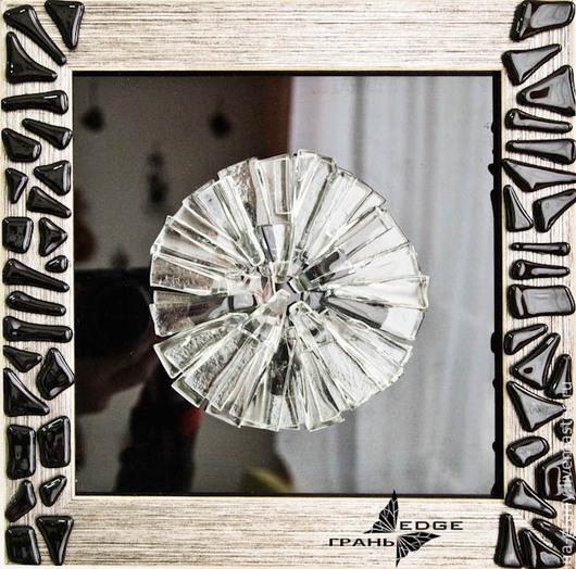 """Абстракция ручной работы. Ярмарка Мастеров - ручная работа. Купить картина из стекла """"Невесомость"""". Handmade. Чёрно-белый, стекло, легкость"""