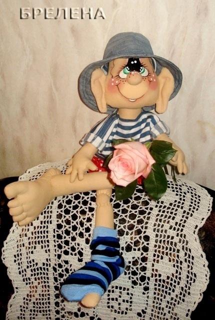 Человечки ручной работы. Ярмарка Мастеров - ручная работа. Купить МужЩина в доме..... Handmade. Интерьерная кукла, прикольный подарок