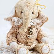 Куклы и игрушки ручной работы. Ярмарка Мастеров - ручная работа Лиза - Тедди слоненок, милашка. Handmade.