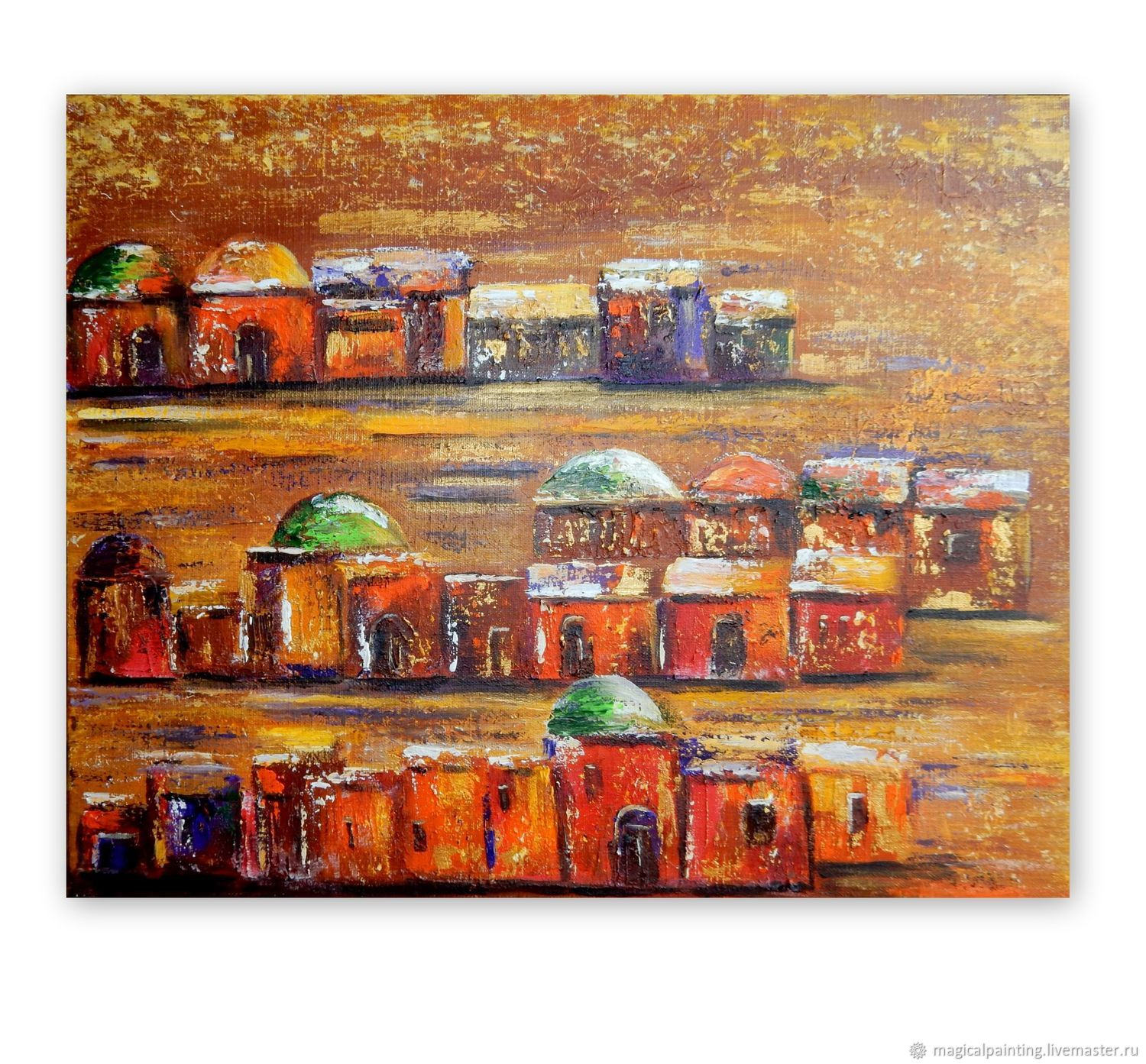 Painting a city in the desert with a palette knife, Pictures, St. Petersburg,  Фото №1