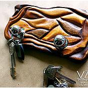 Для дома и интерьера ручной работы. Ярмарка Мастеров - ручная работа Ключница настенная, деревянная.. Handmade.