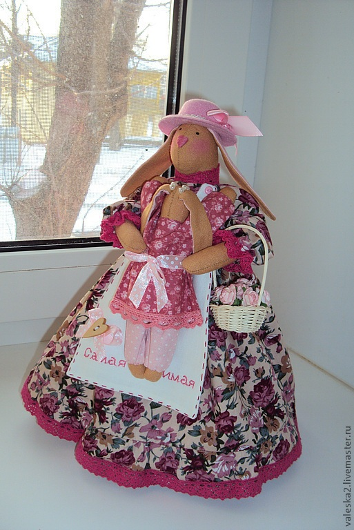 """Куклы Тильды ручной работы. Ярмарка Мастеров - ручная работа. Купить """"Самая любимая"""" зайчиха с малышом. Handmade. Подарок, любовь"""