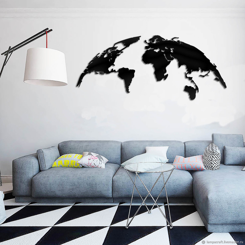 карта мира панно на стену купить