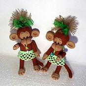 Куклы и игрушки ручной работы. Ярмарка Мастеров - ручная работа обезьянки вязаные-символ года. Handmade.