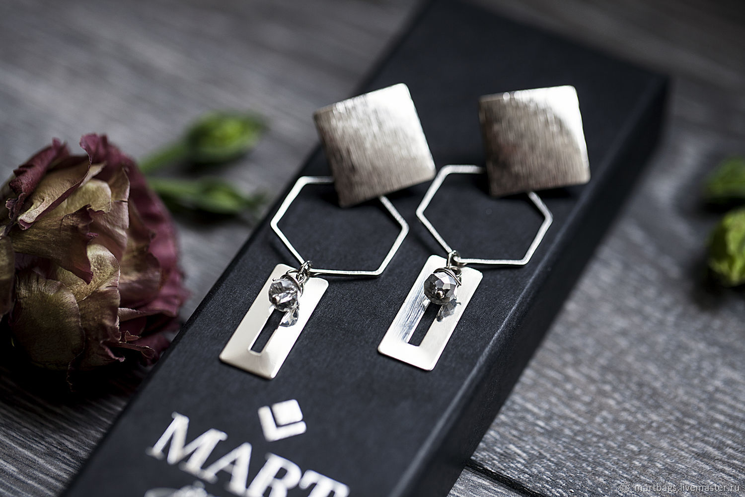 Geometric earrings #geometry8, Earrings, St. Petersburg,  Фото №1