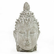 Для дома и интерьера handmade. Livemaster - original item The statue of Buddha made of concrete, grey wood texture. Handmade.
