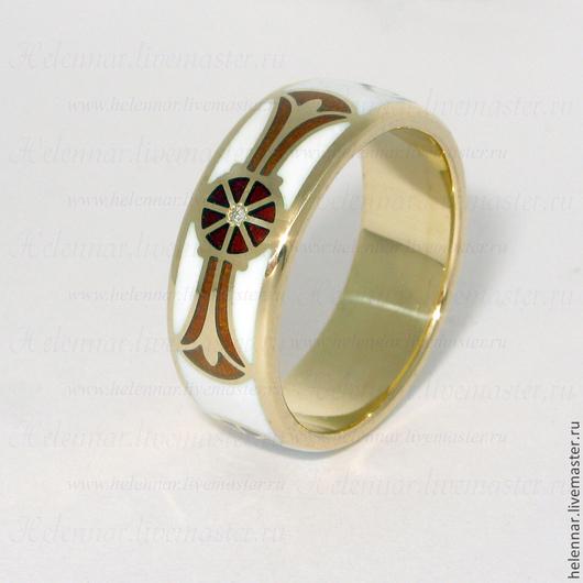 """Кольца ручной работы. Ярмарка Мастеров - ручная работа. Купить Кольцо """"Древний Египет"""". Handmade. Белый, эмаль, кольцо, бриллианты"""
