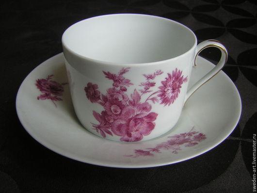 Винтажная посуда. Ярмарка Мастеров - ручная работа. Купить Лиможский фарфор- кофейная чашка с блюдцем- элитный фарфор 1930-40. Handmade.