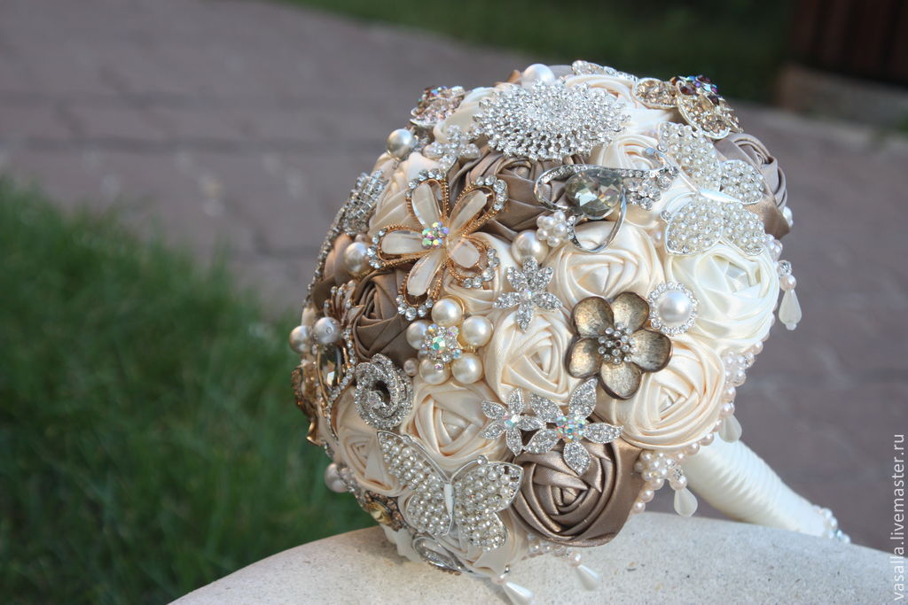 Brooch-bouquet 'Sophie'. Wedding bouquet of brooches, Sets accessories, Moscow,  Фото №1