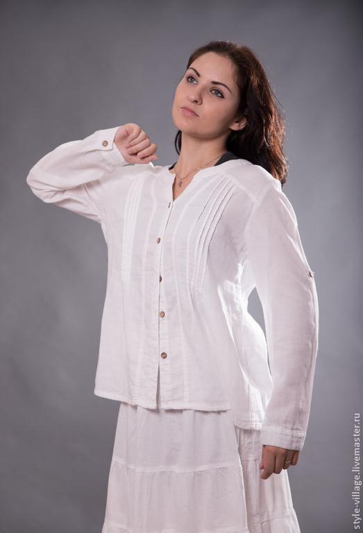 """Блузки ручной работы. Ярмарка Мастеров - ручная работа. Купить Бохо  -рубашка """"Светлое утро"""". Handmade. Бохо, рубашка из хлопка"""