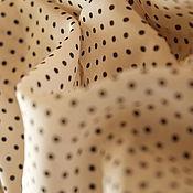 """Материалы для творчества ручной работы. Ярмарка Мастеров - ручная работа Остался один отрез. Шелк """"Нежность в горошинку"""". Цена за отрез. Handmade."""