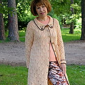 Одежда handmade. Livemaster - original item The author`s summer coat made of cotton. Handmade.