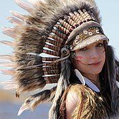 Одежда handmade. Livemaster - original item Indian headdress - Spring Dawn. Handmade.