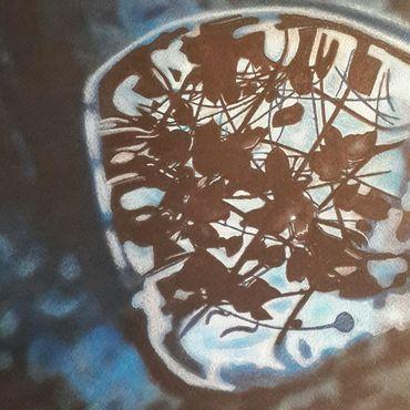 Картины и панно ручной работы. Ярмарка Мастеров - ручная работа Картина:Небо в чаше. Сумерки.. Handmade.