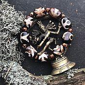 """Украшения ручной работы. Ярмарка Мастеров - ручная работа Браслет из бусин дзи """"Большой человек"""".. Handmade."""