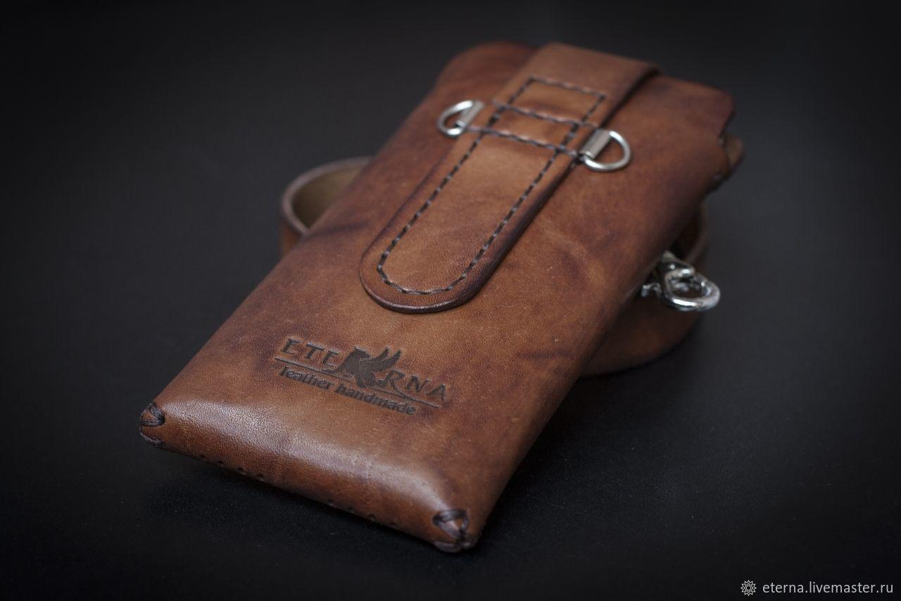 fa4d3fc65c2a Изделия из кожи Для телефонов ручной работы. Заказать Чехол для телефона из кожи  ручной работы.