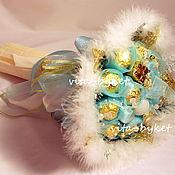 """Цветы и флористика ручной работы. Ярмарка Мастеров - ручная работа Букет из конфет """"Снегурочка"""". Handmade."""