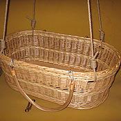 Для дома и интерьера handmade. Livemaster - original item Cradle carrying a newborn classic shapes from the vine. Handmade.