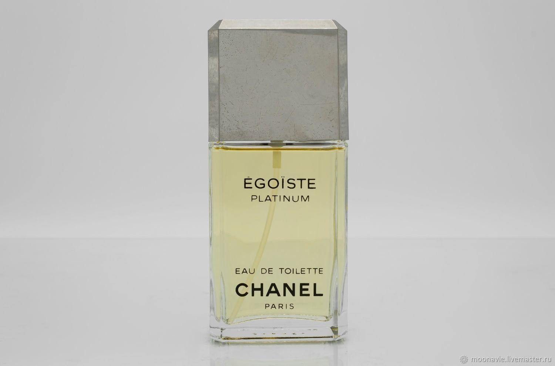 EGOISTE PLATINUM (CHANEL) eau de toilette (EDT) 100 ml VINTAGE, Vintage perfume, St. Petersburg,  Фото №1