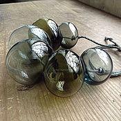 Украшения ручной работы. Ярмарка Мастеров - ручная работа Бусы дутые бутылочные-2, лэмпворк. Handmade.