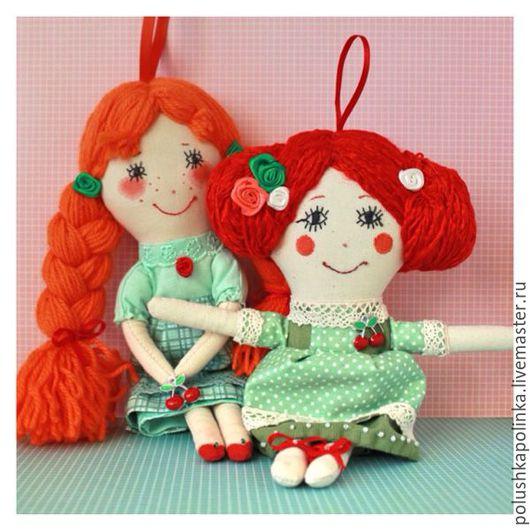 """Народные куклы ручной работы. Ярмарка Мастеров - ручная работа. Купить Текстильные куклы """"Варвара краса- длинная коса и ее подруга Маруся"""".. Handmade."""