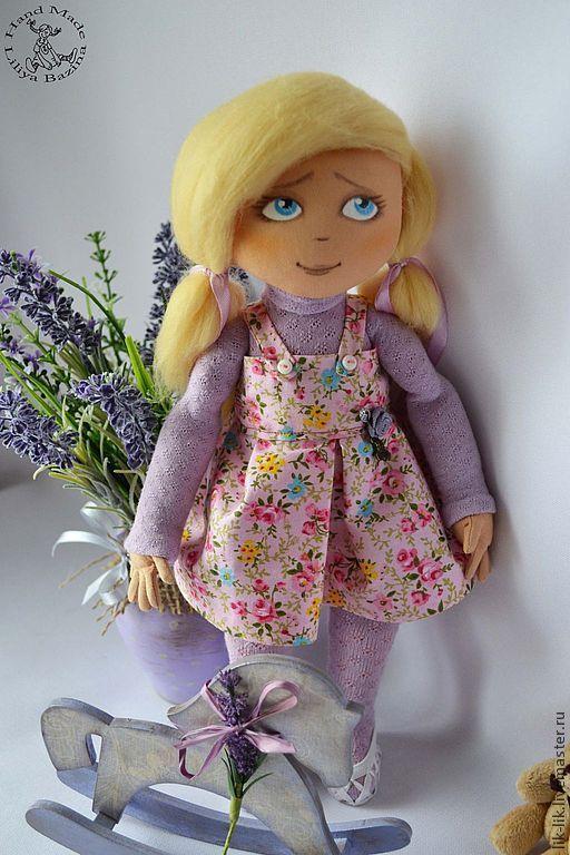 """Коллекционные куклы ручной работы. Ярмарка Мастеров - ручная работа. Купить малышка """"""""Валюша. Handmade. Сиреневый, ручная работа"""
