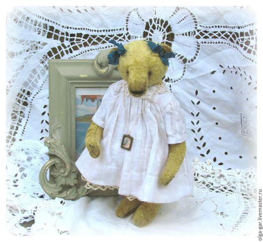 Мишки Тедди ручной работы. Ярмарка Мастеров - ручная работа. Купить Белла. Handmade. Золотой, мишка в подарок, винтажный стиль