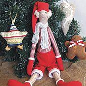 Куклы и игрушки handmade. Livemaster - original item Christmas elf - Santa`s helper - textile doll. Handmade.