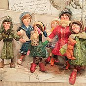 Куклы и игрушки ручной работы. Ярмарка Мастеров - ручная работа Проданы. Ватные игрушки (винтажный стиль). Handmade.