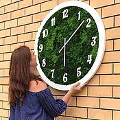 Для дома и интерьера handmade. Livemaster - original item The clock of Moss. Handmade.