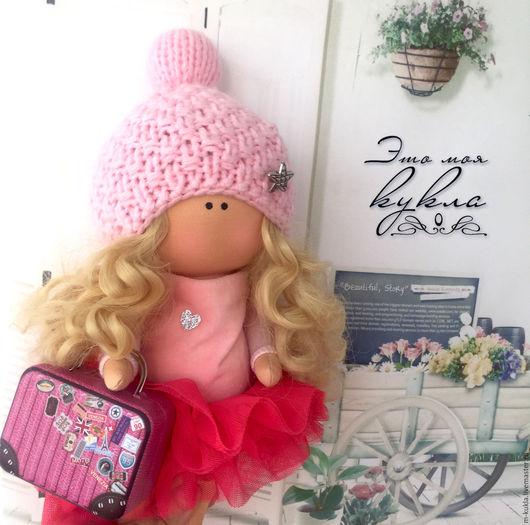Куклы тыквоголовки ручной работы. Ярмарка Мастеров - ручная работа. Купить Кукла-путешественница. Handmade. Розовый, кукла в подарок