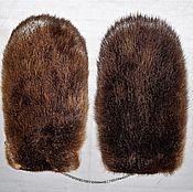 Аксессуары handmade. Livemaster - original item gift to the man fur mittens. Handmade.