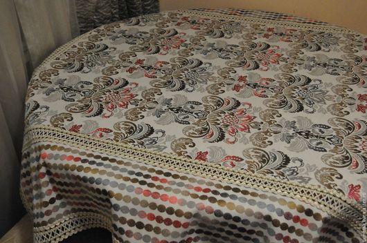 Текстиль, ковры ручной работы. Ярмарка Мастеров - ручная работа. Купить Скатерть 135х155. Handmade. Комбинированный, органза, скатерть с кружевом