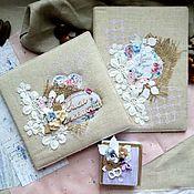 Книги ручной работы. Ярмарка Мастеров - ручная работа Книга пожеланий+свидетельство о браке+коробочка для колец. Handmade.