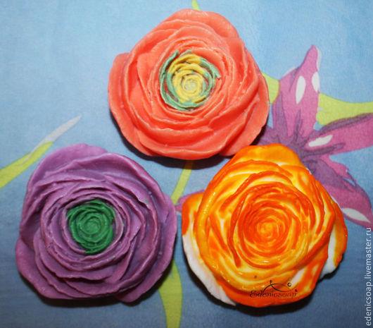 Подарочное мыло ручной работы. Подарки к 8 марта. Цветы.