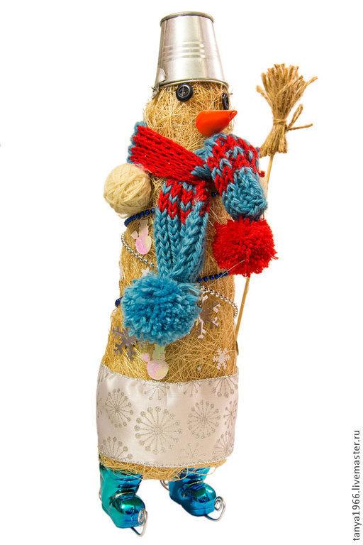 Новый год 2017 ручной работы. Ярмарка Мастеров - ручная работа. Купить Елка новогодняя - снеговик. Handmade. Белый, новогодняя елка