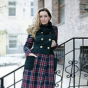 Одежда ручной работы. Ярмарка Мастеров - ручная работа Пальто комбинированное. Handmade.