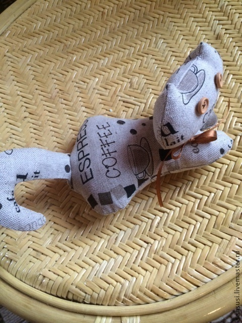 Игрушки животные, ручной работы. Ярмарка Мастеров - ручная работа. Купить Котенок Каппучинка текстильная интерьерная игрушка. Handmade. Кот
