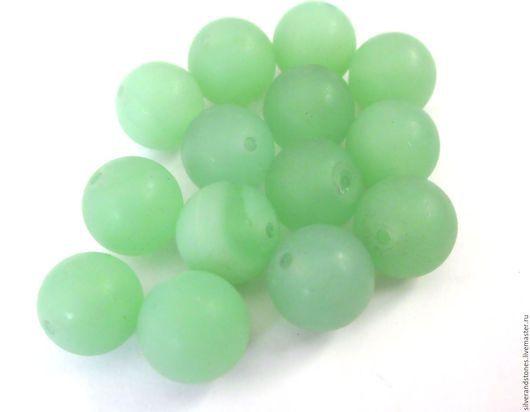 Для украшений ручной работы. Ярмарка Мастеров - ручная работа. Купить Агат, зеленый матовый, шар. 10 мм. Handmade.
