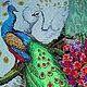 Животные ручной работы. Павлины. Наталия (NataliyAhtyrska). Интернет-магазин Ярмарка Мастеров. Вышивка крестом, фен-шуй, картина для интерьера
