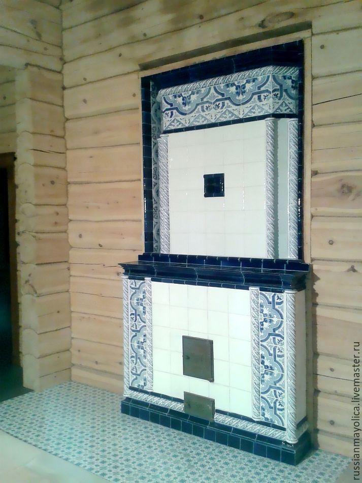Печь Азулежу, Камины, Москва, Фото №1