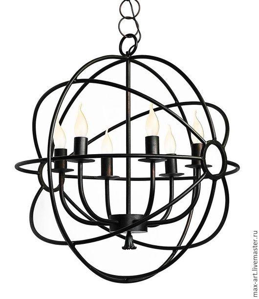 Освещение ручной работы. Ярмарка Мастеров - ручная работа. Купить Люстра Гироскоп в стиле лофт. Handmade. Черный, мебель на заказ