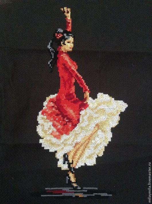 """Символизм ручной работы. Ярмарка Мастеров - ручная работа. Купить """"Фламенко"""" вышивка. Handmade. Испанка, красный, контраст"""