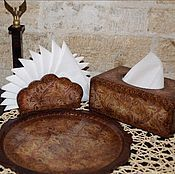 Для дома и интерьера ручной работы. Ярмарка Мастеров - ручная работа Набор для кухни из салфетниц и подноса.. Handmade.