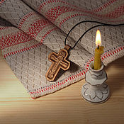 """Украшения ручной работы. Ярмарка Мастеров - ручная работа """"Курск"""" - деревянный резной нательный крест-распятие. Handmade."""